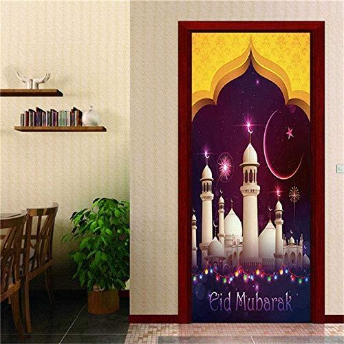 Adhesivo decorativo para puerta en 3D, diseño de Eid Diwali