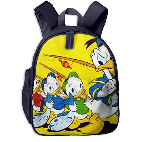 Zaino per la scuola, motivo: Paperino e bambine, borsa da viaggio universale in tela Marina Militare taglia unica