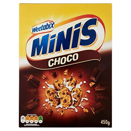 Weetabix 2 pack Crispy Minis Choco - Cereales de desayuno - Cereales integrales - Alto contenido en fibra, 2x450g