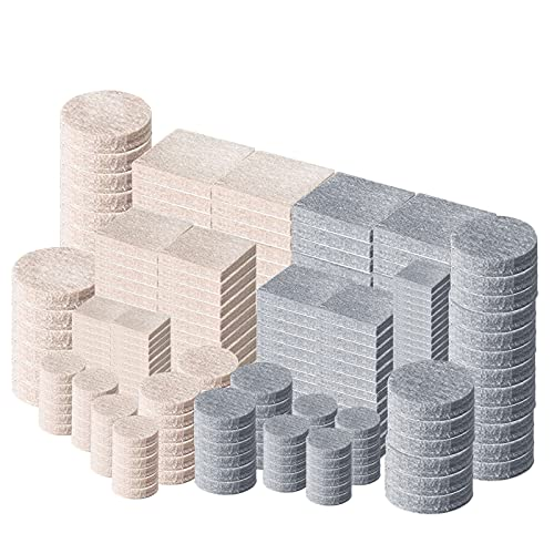 Filzgleiter Selbstklebend, 288 Stück Möbelgleiter Filz Stuhlgleiter Möbelfilz Bodenschoner für Stühle/Möbel, Bodenschutz für Fliesen, Laminat oder Parkett