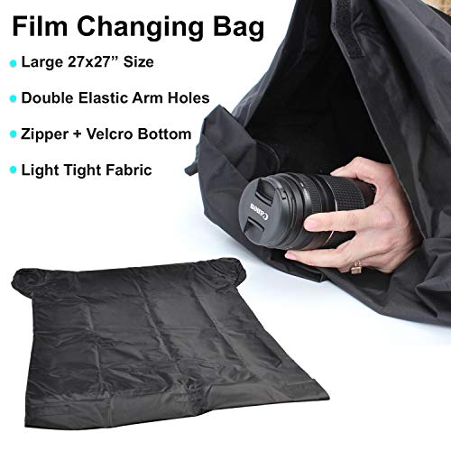 Sunset Foto 27x30 Film Changing Bag Dark Room Load Photography DarkRoom Zipper Light Tight