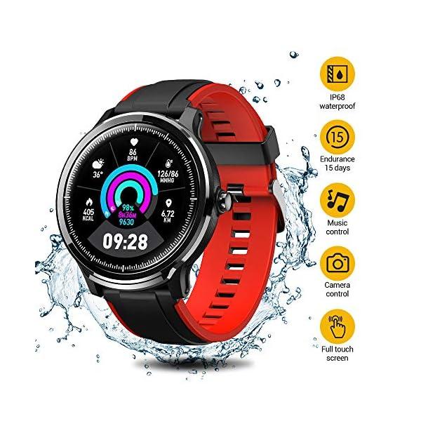 SmartWatch,Reloj Inteligente Impermeable IP68,Bluetooth Relojes Deportivos Pantalla t¨¢ctil completa para monitor… 1