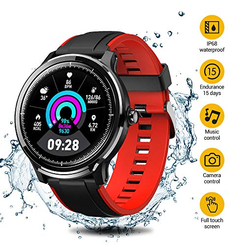 SmartWatch,Reloj Inteligente Impermeable IP68,Bluetooth Relojes Deport