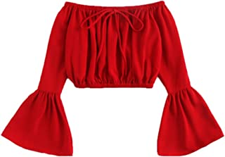 Best red off the shoulder blouse Reviews