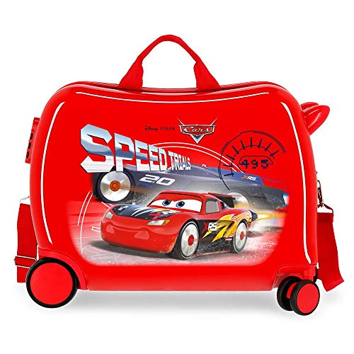 Disney Maleta Infantil Cars Speed Trails 2 Ruedas Multidireccionales, Rojo, 50 x 38 x 20 cm