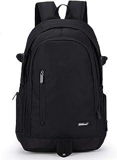 Mochila deportiva, mochila escolar, mochila escolar, mochila escolar, mochila de ocio, mochila Daypacks para niñas, jóvenes, mujeres, hombres y jóvenes, Mochila escolar, color negro (Negro) - .