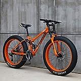Las bicicletas de montaña, 24 pulgadas de 26 pulgadas Fat Tire hardtail bicicleta de montaña, doble bastidor de suspensión y suspensión Tenedor Todo Terreno de bicicletas de montaña, 24speed,A,26in