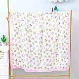 UKKO Bedsure Mantas para Sofás de Franela Four Layers 70% Bamboo 30% Cotton Muslin Blanket Swaddle Wrap For Blankets Swaddling Bedding Bath Towel