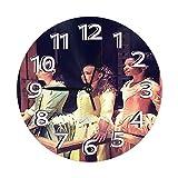FETEAM Reloj de Pared Hermanas Schuyler Hamilton Relojes de Pared Funciona con Pilas Silencioso Decoración Pared para Cocina, Salon, Oficina, Dormitorio 25cm
