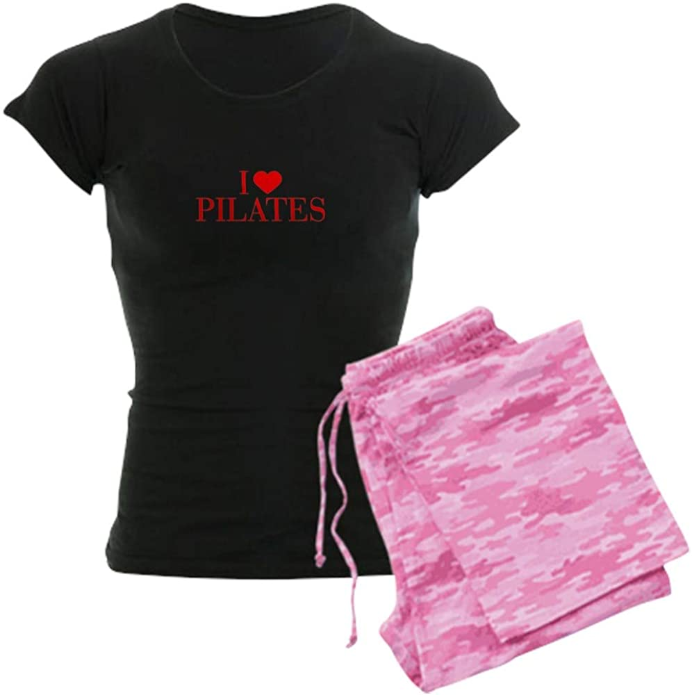 CafePress I Love Selling and selling Pilates BAU Luxury Pajamas Red Women's PJs 500