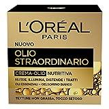 L'Oréal Paris Crema Viso Giorno Olio Straordinario, Texture Nutriente, Adatto a Pelli Secche e Sensibili, 50 ml