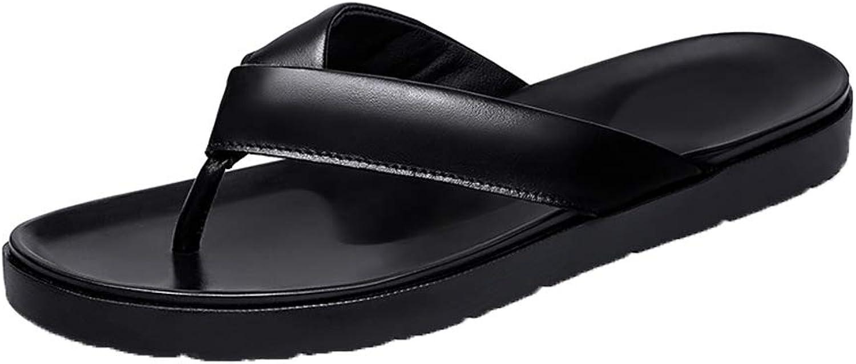Men's PU Leisure Flip flops Arch Support Non-slip Slippers Lightweight Wear resistant Cozy Beach shoes