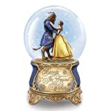 The Bradford Exchange Disney Beauty and The Beast Dance in a Musical Glitter Globe