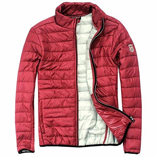 EXUMA Herren Sportbekleidung Aufgeblasen Jacke, Burgundy, M
