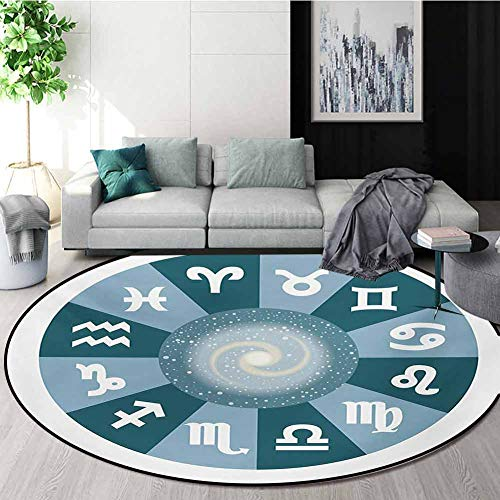 Purchase RUGSMAT Zodiac Computer Chair Floor Mat,Illustration with Signs Set and Outer Space Univers...