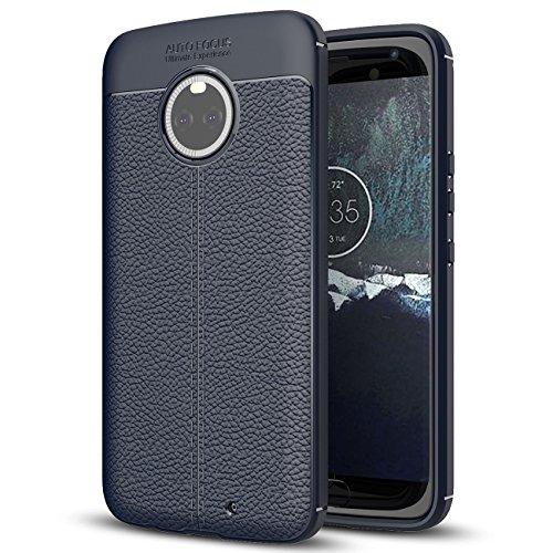 Capa para Moto X4, capa de couro sintético para Moto X4, capa macia antiderrapante de TPU para Motorola Moto X4 de 5,2 polegadas, Motorola Moto X (4ª geração)