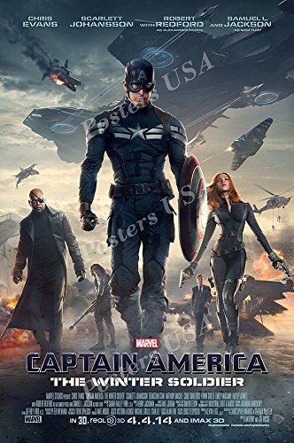PremiumPrints - Marvel Captain America The Winter Soldier Movie Poster Glossy Finish Made in USA - FIL266 (24' x 36' (61cm x 91.5cm))