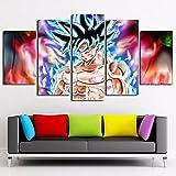 YUXIXI Dragon Ball - Anime Composición De 5 Cuadros De Madera para Pared Decorativas para Salón, Comedor, Habitación, Dormitorio, Pasillo. Set De 5 Posters Modernos 150 X 80 Cm*/