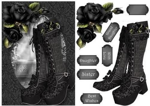 Beautiful botas – fabulously gótico A5 por Anne palanca