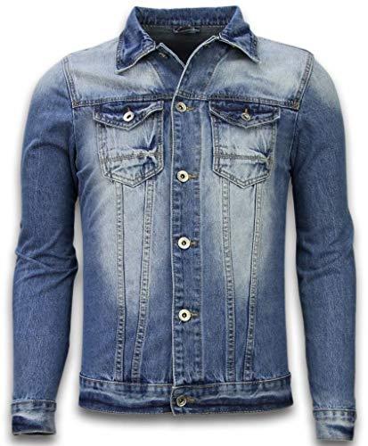 Spijkerjasje - Spijkerjasje Heren Denim Jacket - Stonewashed Look - Blauw