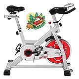 ANCHEER Heimtrainer Fahrrad Ergometer Hometrainer Testsieger, Indoor Zuhause Leise Riemenantrieb mit Halterung, Lenker und Basis, bis 150KG