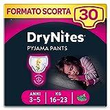 Huggies Drynites Pijama Pantalones Niñas 3-5 años, 1 x 30 unidades