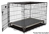 Kuranda All-Aluminum (Silver) Chewproof Dog Crate Bed - Large (40x25) - Vinyl - Smoke