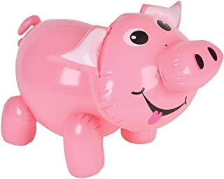 ArtCreativity Inflatable Pig, Farm Animal Party Decorations and Supplies, 20 Inch Blow-Up Pig Inflate for Animal Birthday ...