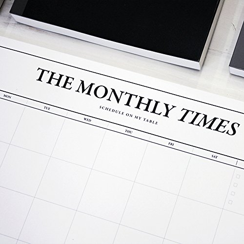 Monthly Times Desk Notepad