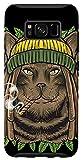 Galaxy S8 Rastafarian Cat Marijuana Rasta Kitten Cannabis Weed 420 Case