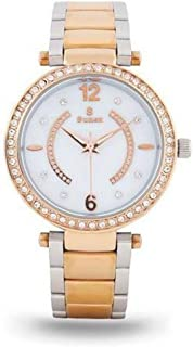 Sunex Women's Watch, Analog, Stainless Steel, Rose Gold, White Dial, S0352RGW