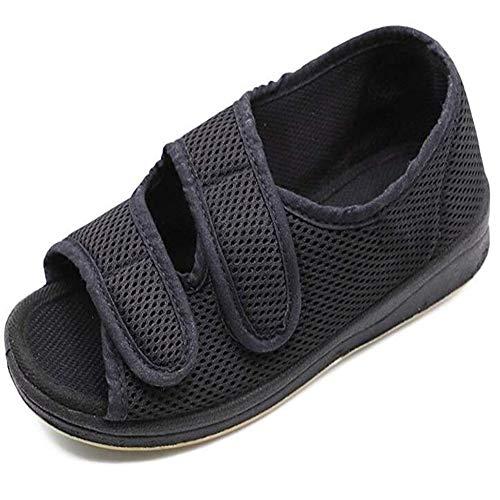 LIUQIGRASS Womens Diabetische wandelschoenen, Diabetische schoenen voet brede oude man voet vervorming middelbare leeftijd schoenen voet Puffy externe vervorming verpleging