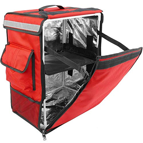 CityBAG - Sac à Dos isothermique pour la Livraison des Commandes de Nourriture à vélo et Moto Rouge 35 x 25 x 49 cm.
