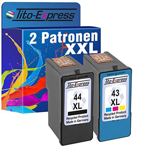 Tito-Express PlatinumSerie Farbset 2X Tinten-Patrone für Lexmark 44 XL + 43 XL X6575 X4850 X4875 X4950 X4975 X6570 X6575
