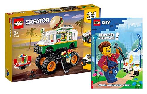 Collectix Lego 31104 Creator - Juego de mesa de hamburguesas 3 en 1 (incluye funda blanda)