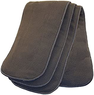Happy Endings Teen/Adult Inserts for Cloth Diapers Incontinence ((3 Pack) 5 Layer Charcoal Bamboo Inserts)