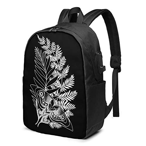 Jiaolun The Last Of Us Ellie'S Tattoo Printed Fashion Trend Backpack With Usb Port For Office Outdoor Travel School Black