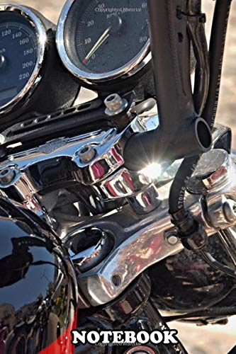 Notebook: Great Front Part Of A Modern Harley Davidson Bike , Journal for Writing, College Ruled Size 6