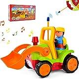 IDEAPARK Controllo remoto RC Auto Giocattoli,Con Musica Luce e Suono,Regalo per 1-6 Anni Bambini