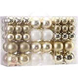 Sea Team 86 Pieces of Assorted Christmas Ball Ornaments Shatterproof Seasonal Decorative...