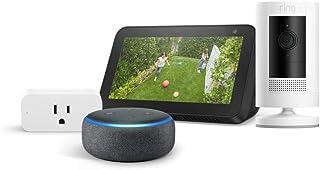 Amazon Smart Home Bundle: Echo Show 5, Ring Stick Up Cam (Battery), Echo Dot (3rd Gen), and...