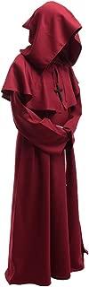 Friar Medieval Hooded Robe Monk Renaissance Priest Robe Halloween Cosplay Costume
