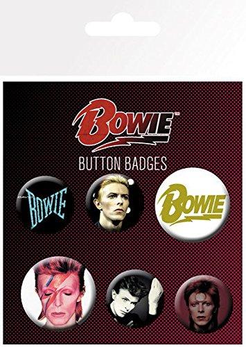 mächtig empireposter Bowie, David – Mix – 6 Lüfterknöpfe – 25 / 32mm Ø jeder Größe