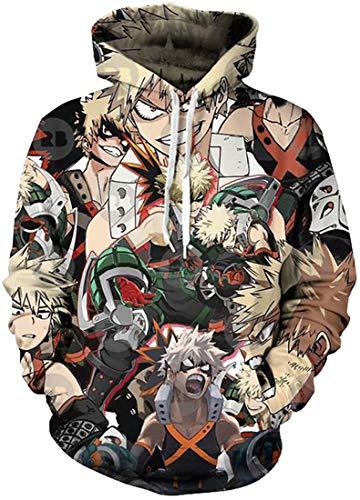 Yesgirl Damen Herren Unisex Hoodie Anime Serie My Hero Academia Hd Print Izuku...