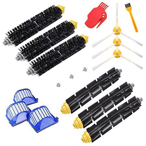 Supon Cepillo de repuesto para robot serie 600 - Accesorios de repuesto - 17 piezas - Cepillos laterales, filtro, cepillo de cerdas para aspirador robots (600-s)