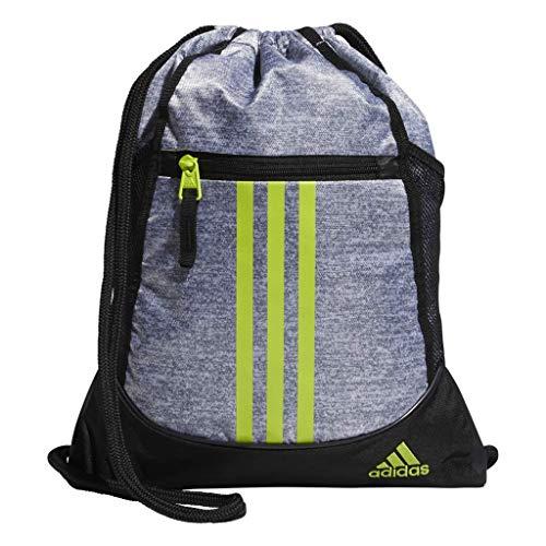adidas Originals Unisex-Erwachsene Sackpack Alliance II - Rucksackbeutel, Jersey Grey/Semi Solar Slime/Black, OSFA