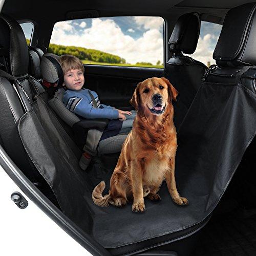 GHB Cubierta Universal Protector Impermeable de Tapicería de Coche para Perros Mascotas y Viajes con Hebilla de Seguridad