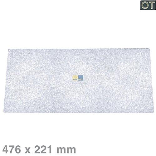 ORIGINAL Bauknecht Ignis 481946678102 Plexiglas Platte Ablage Einlegeboden Regal Lebensmittelfach Glasablage Einschub 478x223x4mm Kühlschrank Kühl-Gefrier-Kombination auch Philips Whirlpool Ikea