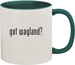 got wayland? - 11oz Ceramic Colored Inside & Handle Coffee Mug, Green