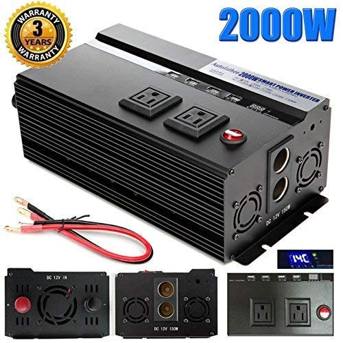 in budget affordable Digital display 2000W Automatic change 12V DC to 110V AC changed sine wave converter 4…